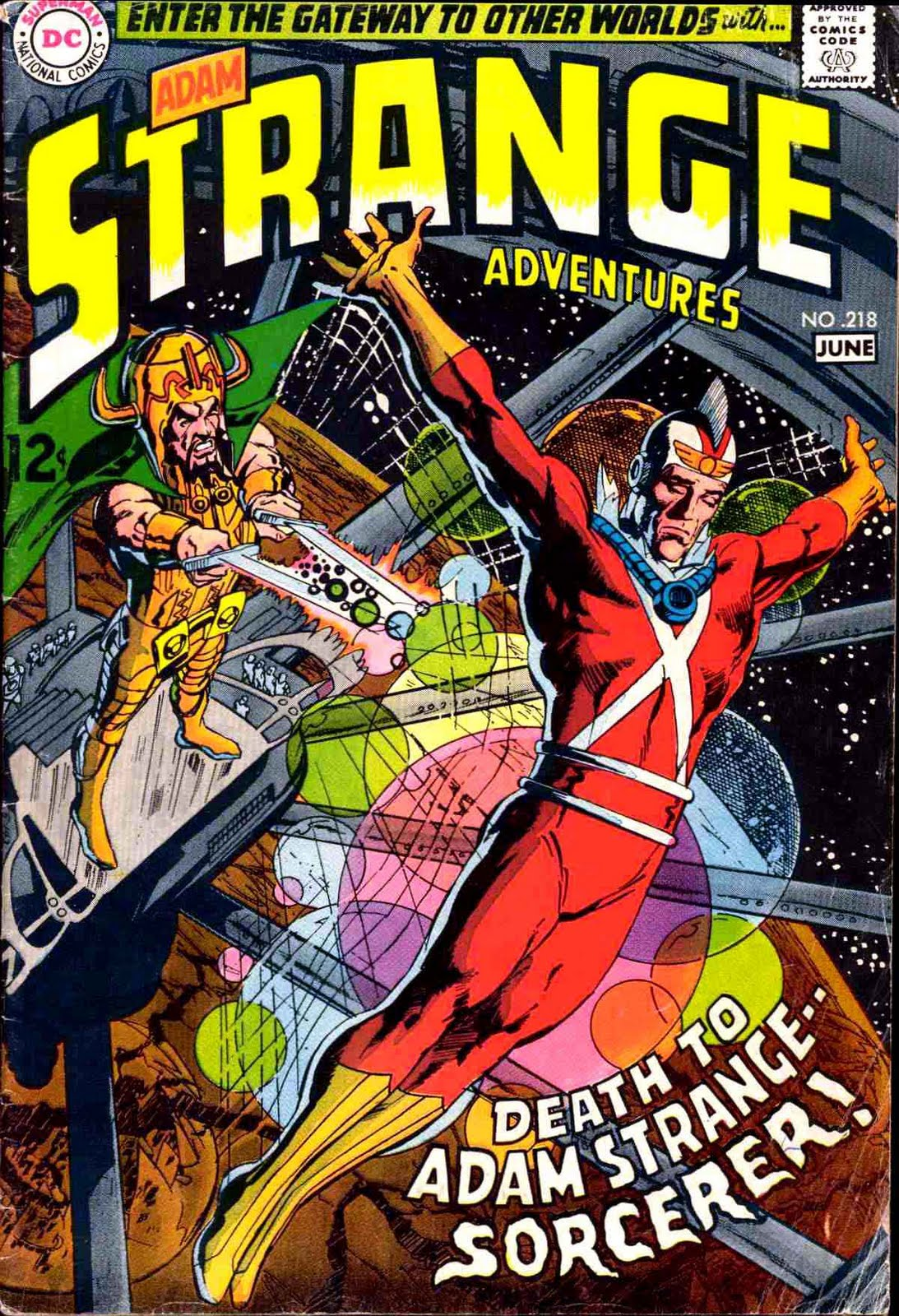 Strange Adventures (1950) #218. Cover by Neal Adams.