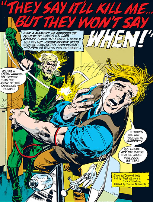 A panel from Green Lantern (1960) #89. Art by Neal Adams.