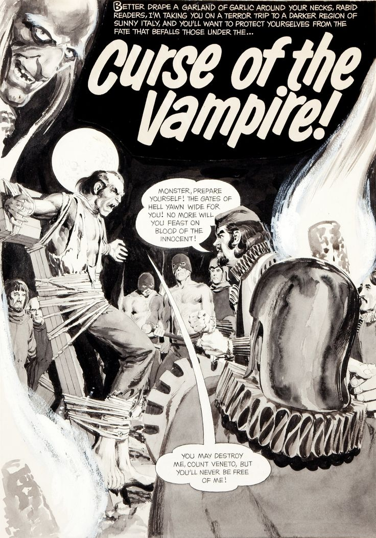 Creepy (1964) #14.  Curse Of The Vampire  pg. 1, art by Neal Adams.