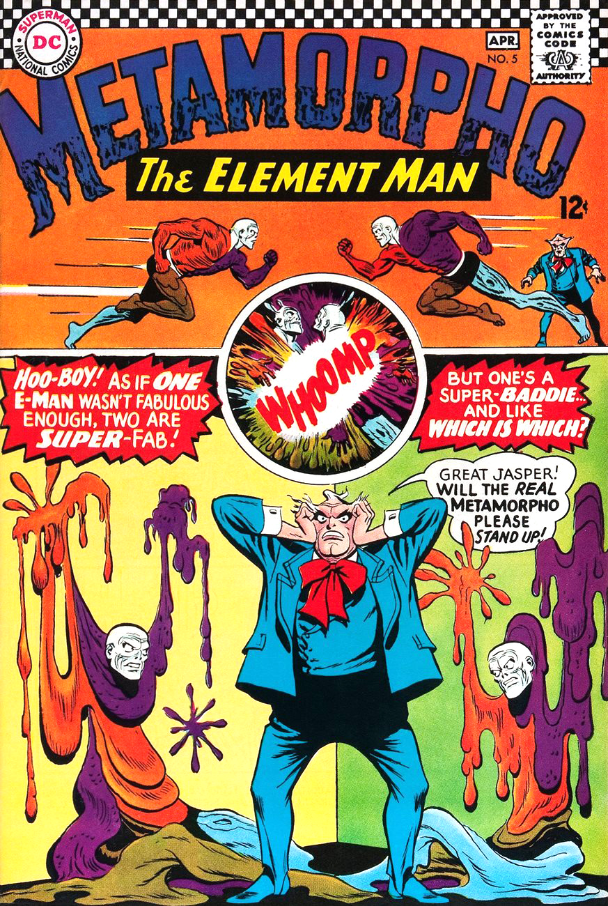 Metamorpho, The Element Man #2. Cover by Ramona Fradon.