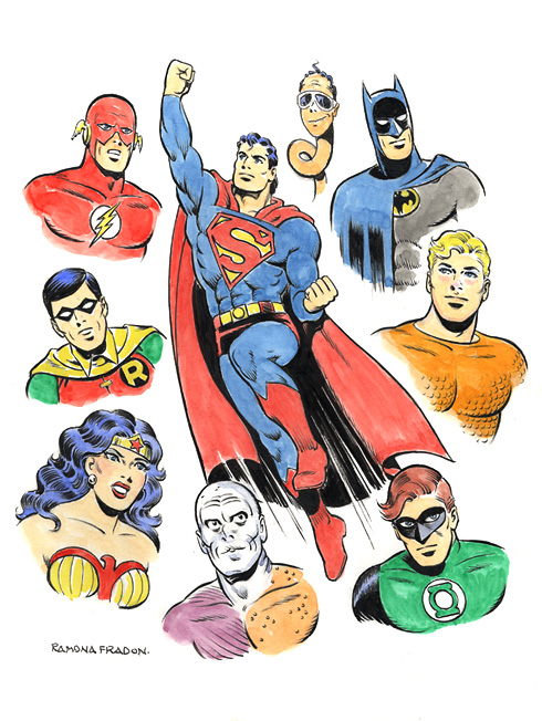 Super Friends group commission by Ramona Fradon.