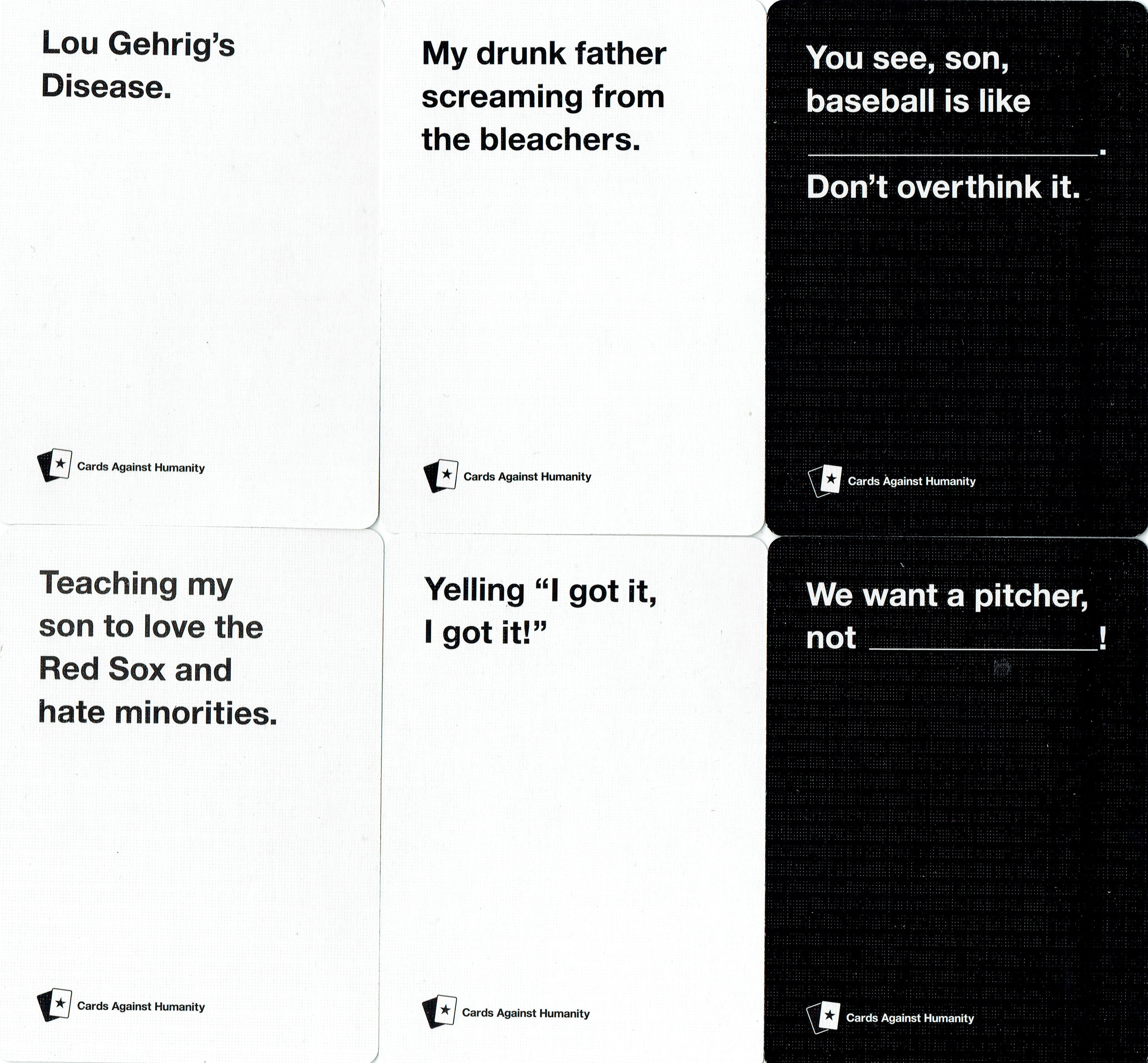 Cards Against Humanity Saves Baseball (fronts)