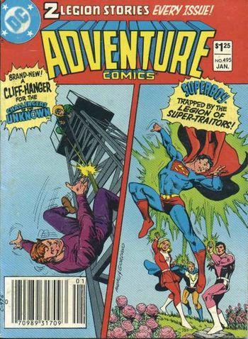 Adventure Comics #495, written by Bob Rozakis.