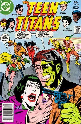 Teen Titans #48Hero Hotline #1, written by Bob Rozakis.