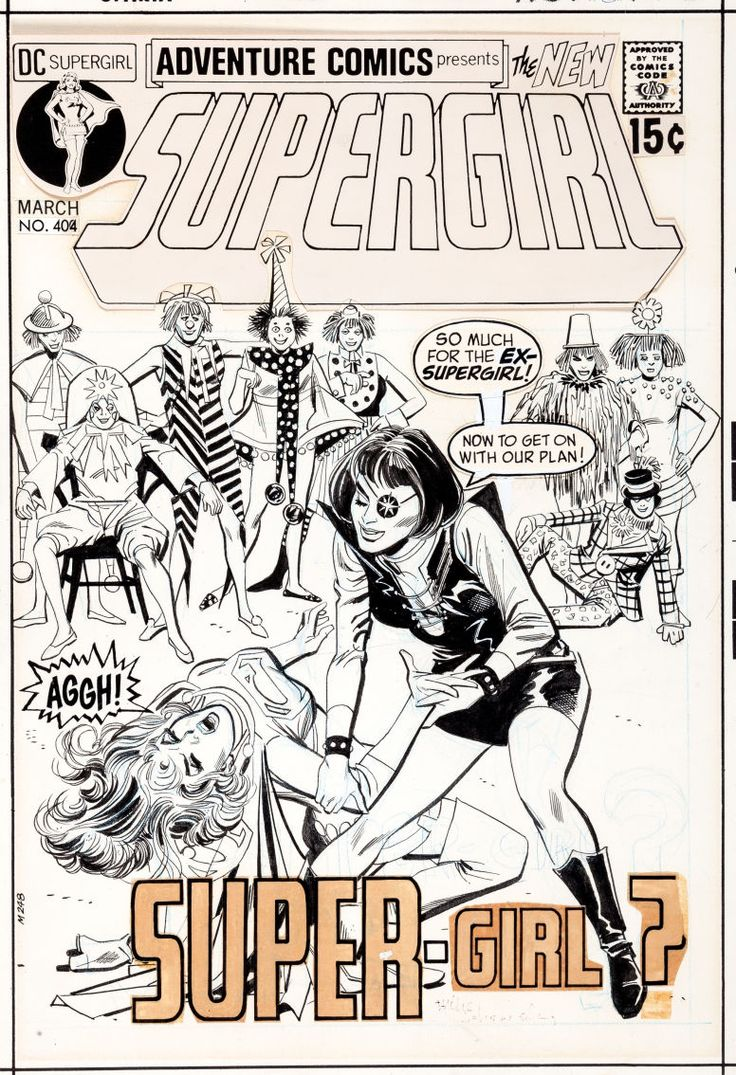 Adventure Comics #404 original cover art by Mike Sekowsky and Dick Giordano.