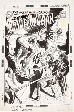 Wonder Woman (1942) #182 original cover art by Mike Sekowsky and Dick Giordano.