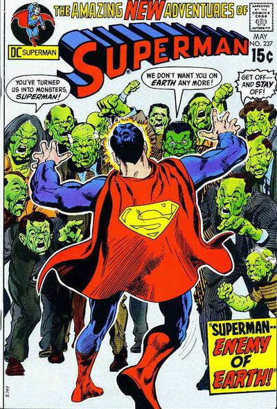 Superman #237, cover by Neal Adams & Dick Giordano.
