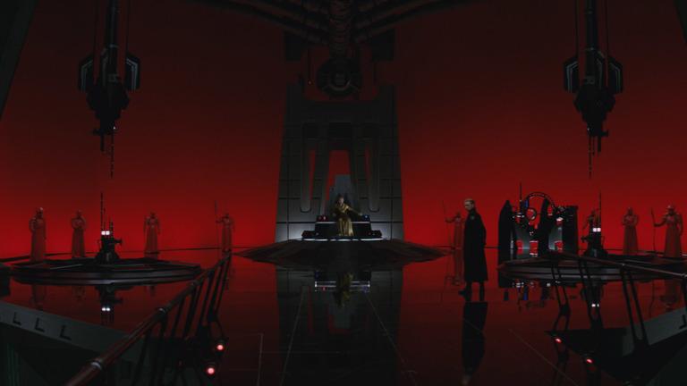 Inside Snoke's chambers.