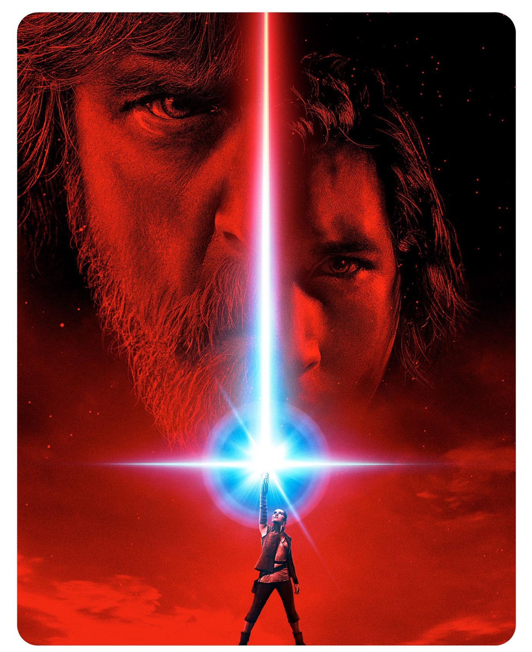 Luke Skywalker, Kylo Ren, and Rey.