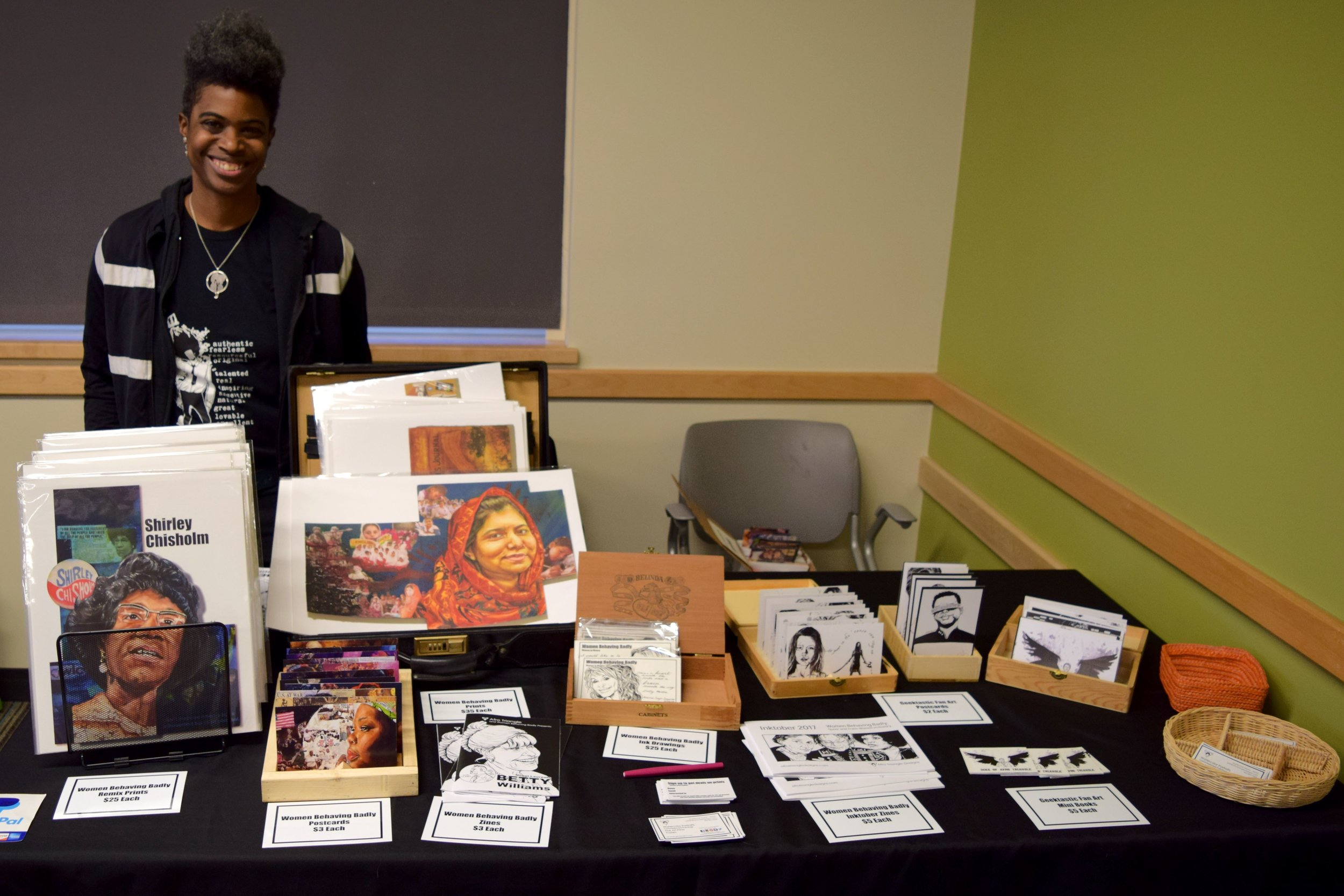 Adrienne Norris at the Denver Public Library Mini Comic Con 2017.