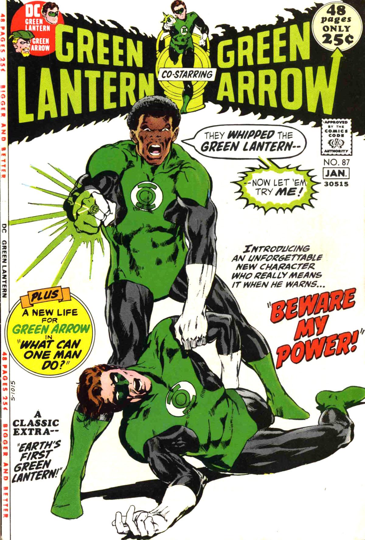 Green Lantern (1960) #85, written by Denny O'Neil.