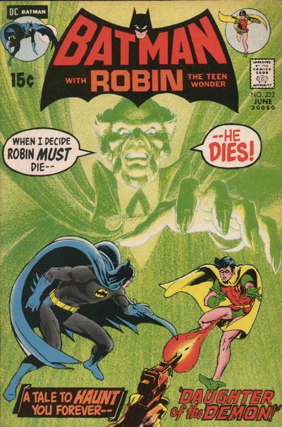 Batman (1940) #232, written by Denny O'Neil.