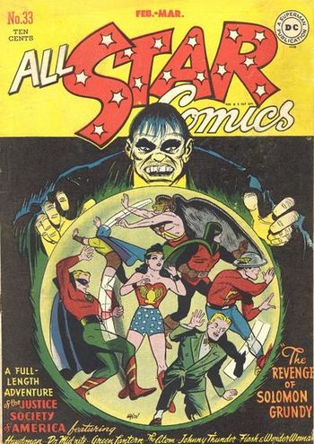 All-Star Comics (1940) #33, cover by Irwin Hasen.