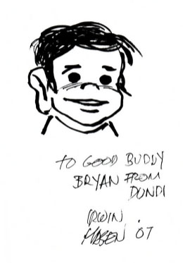 A Dondi sketch done by Irwin Hasen in 2007.