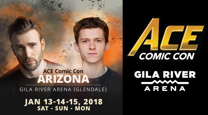 A banner ad for Ace Comic Con Arizona.