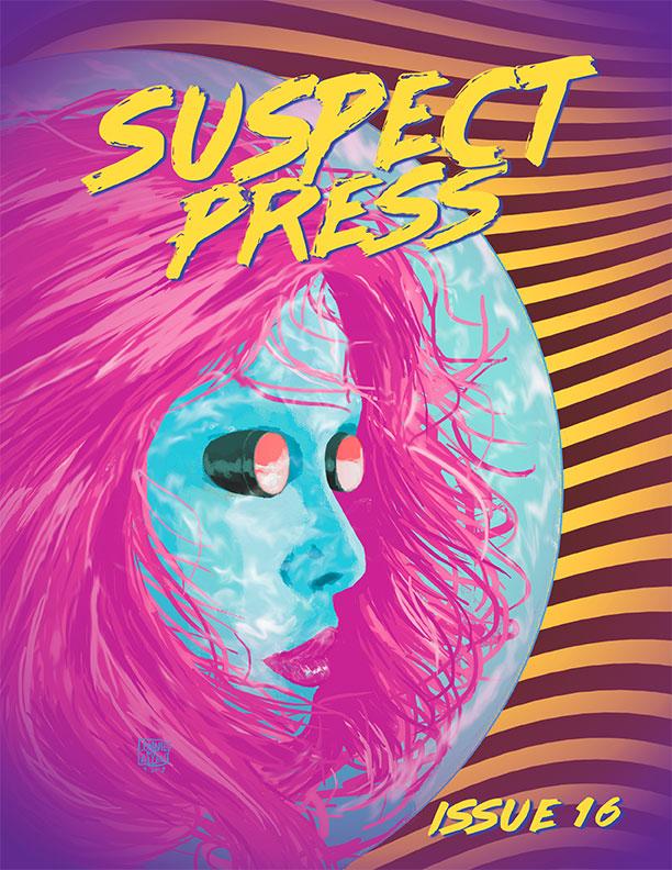 Suspect Press #16, cover by  Lonnie Allen .