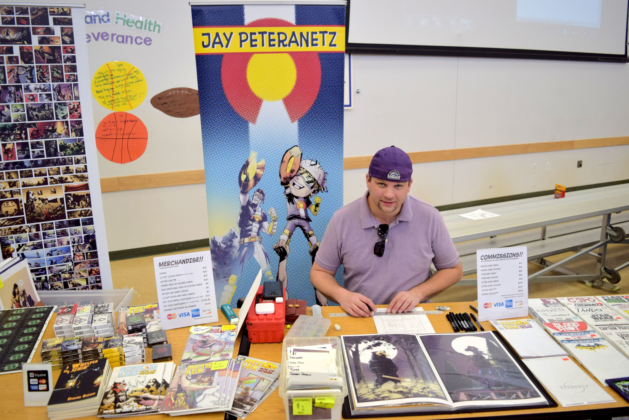 Jay Peteranetz  drawing at the mini-con.