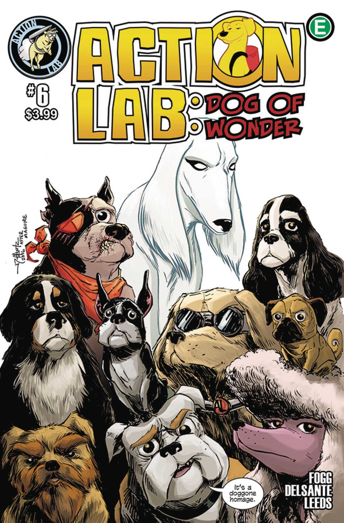 Action Lab: Dog of Wonder #6 , cover by  Jay Peteranetz .