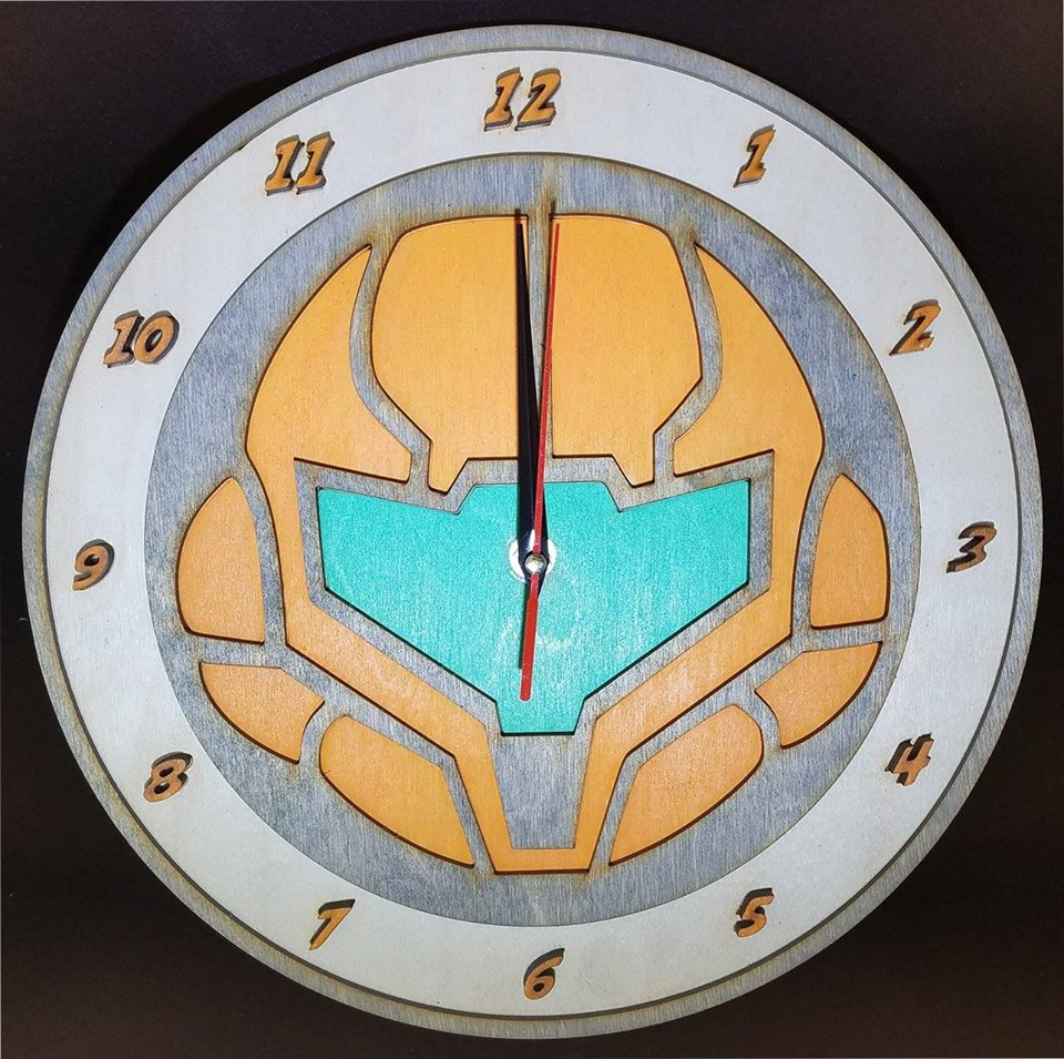 A Metroid clock from MacWolf Productions.