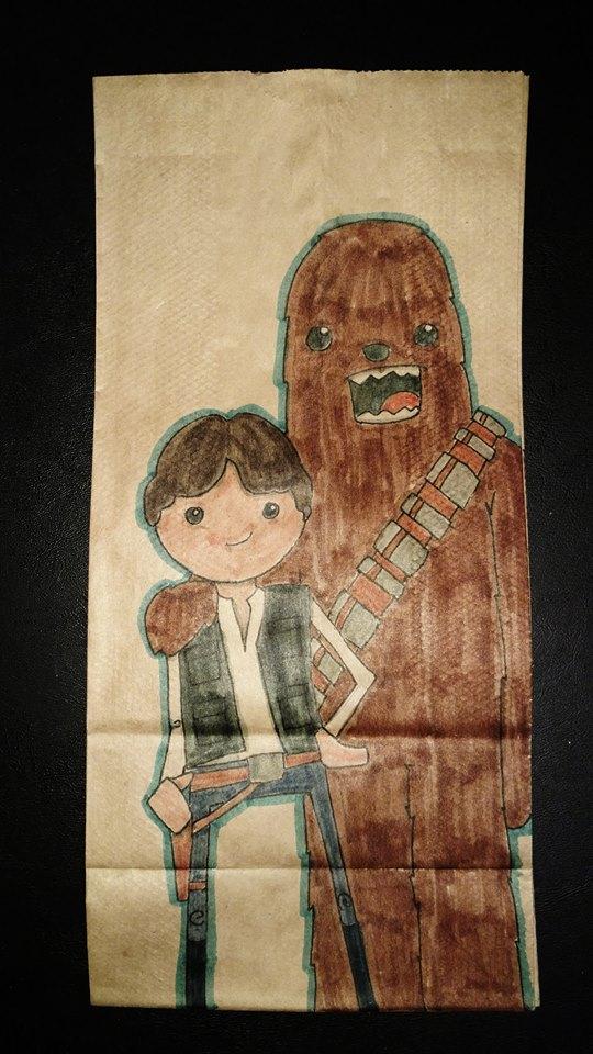 Han & Chewie by  Matt Barclay .