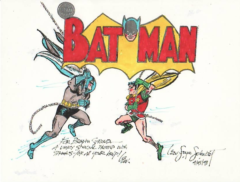 Batman & Robin - a commission done by Lew Sayre Schwartz.