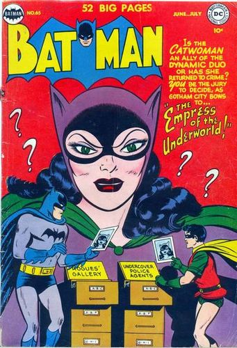Batman (1940) #65, cover by Lew Sayre Schwartz.