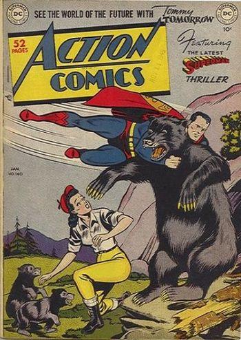 Action Comics (1938) #140, cover by Al Plastino.