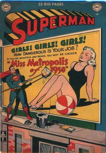 Superman (1939) #63, cover by Al Plastino.