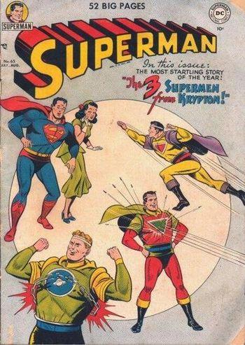 Superman (1939) #65, cover by Al Plastino.