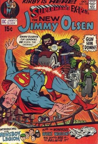 Superman's Pal Jimmy Olsen (1954) #133, cover by  Jack Kirby  with faces redone by  Al Plastino .