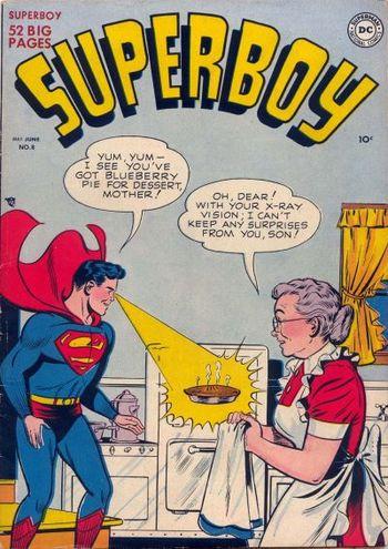 Superboy (1949) #8, cover by Al Plastino.