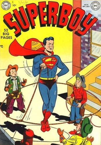 Superboy (1949) #10, cover by Al Plastino.
