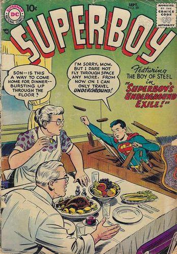 Superboy (1949) #59, cover by Al Plastino.