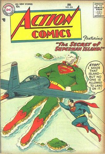 Action Comics (1938) #224, cover by Al Plastino.