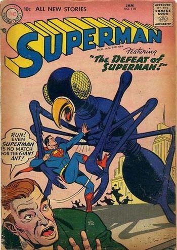 Superman (1939) #110, cover by Al Plastino.