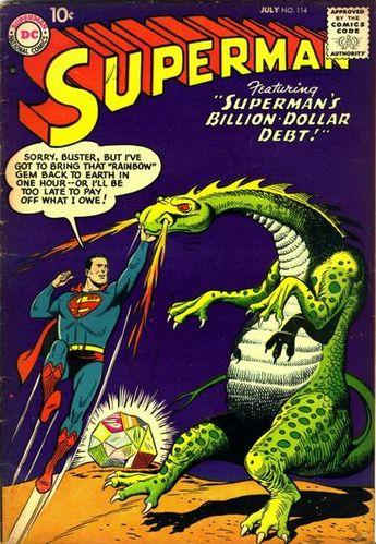 Superman (1939) #114, cover by Al Plastino.