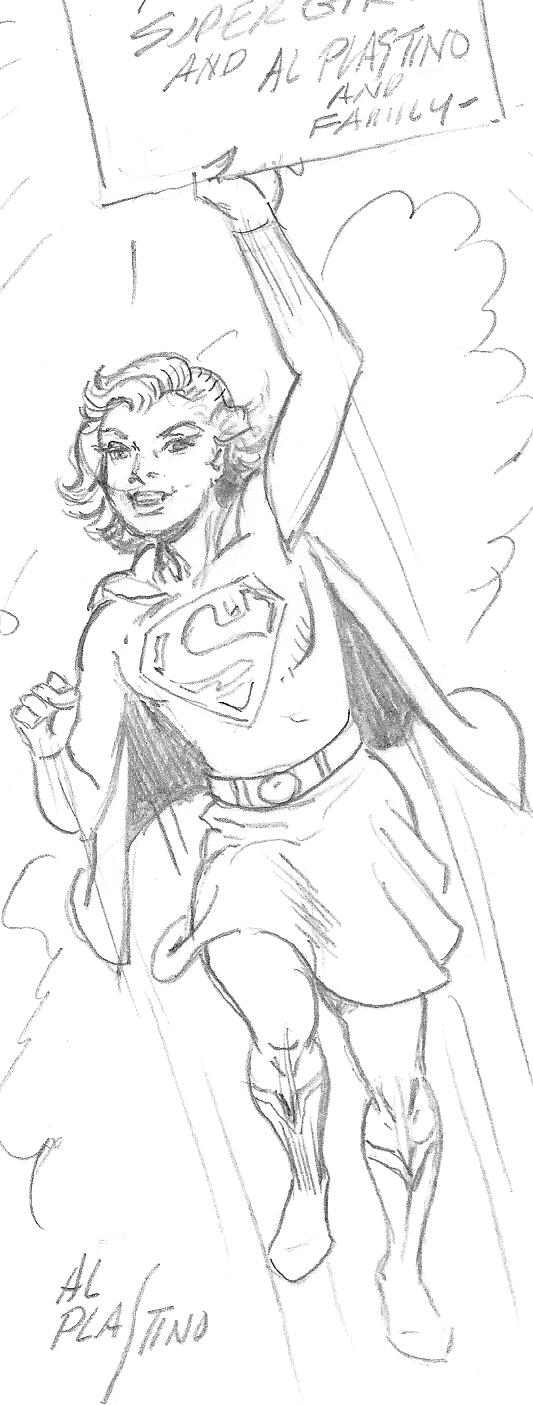 A Supergirl sketch by Al Plastino.