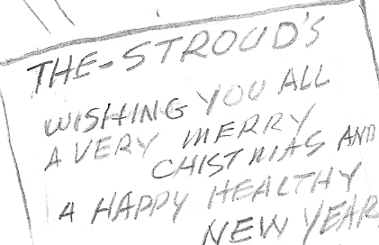 The Christmas inscription, from Al Plastino.
