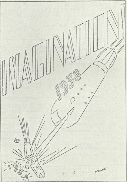 Mooney's cover for the 1938 fanzine  Imagination , containing Ray Bradbury's first published story.