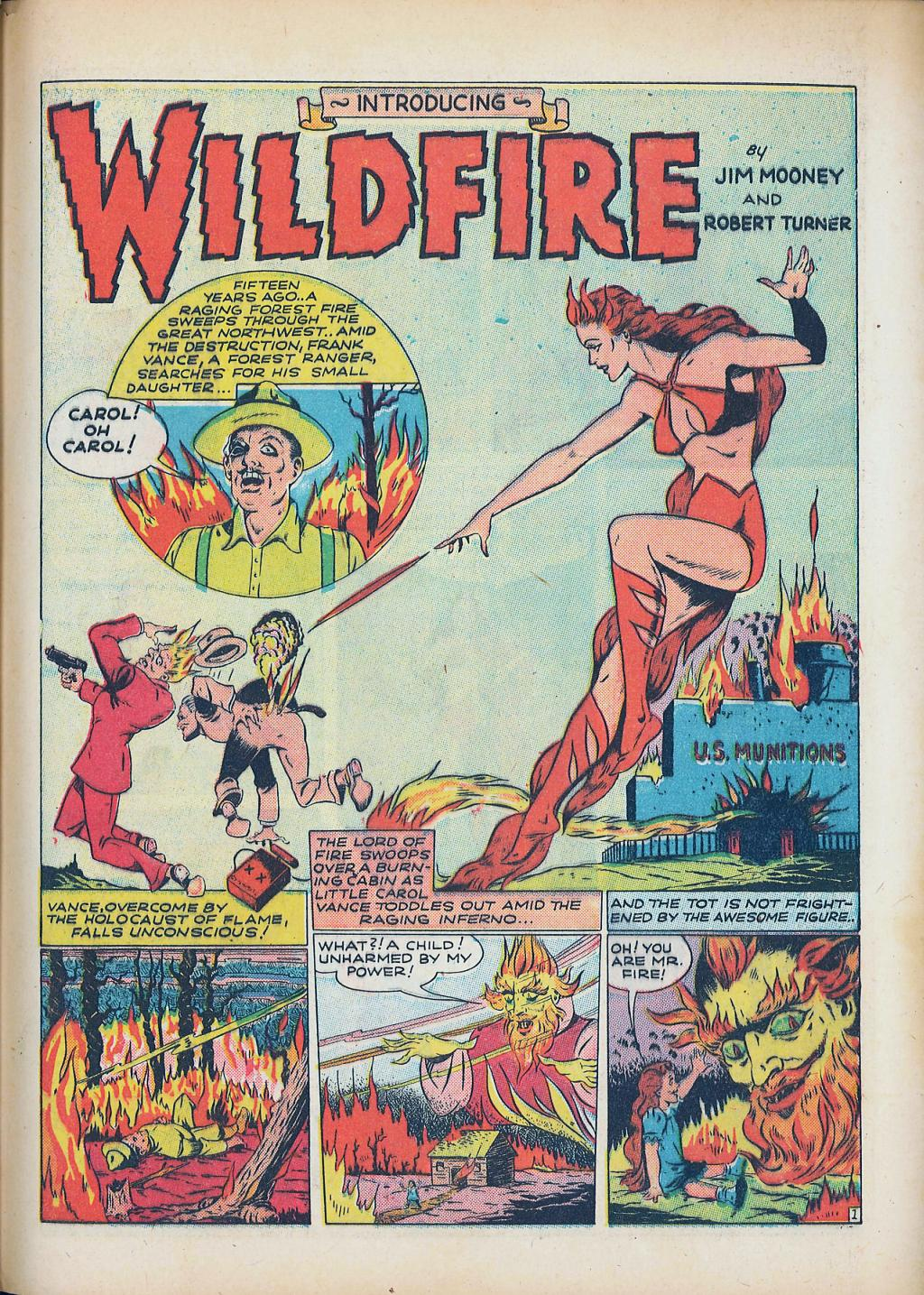 A page from Wildfire by Jim Mooney and Robert Turner.