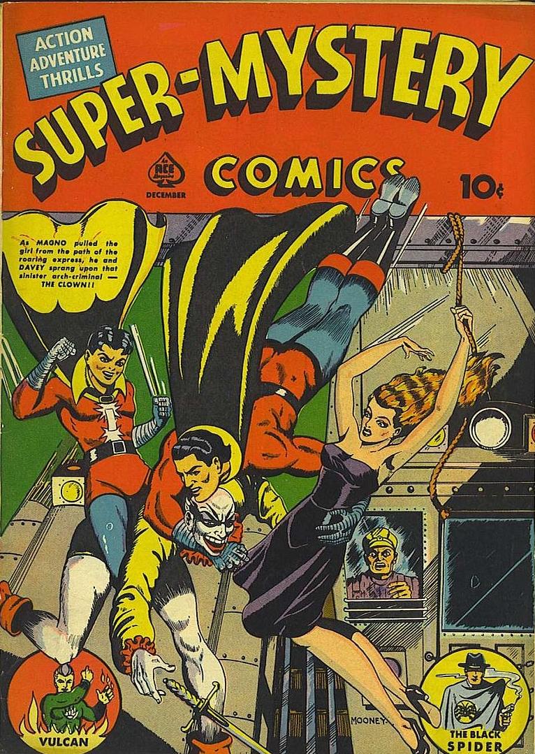 Super Mystery Comics #5 (Dec. 1940): Jim Mooney's first professional cover art