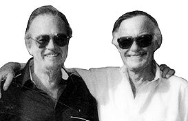 Jim Mooney with Stan Lee in 1990.