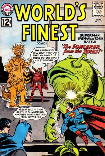 World's Finest Comics (1941) #127, cover by Jim Mooney.