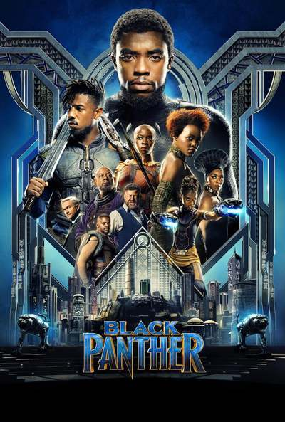 The Black Panther (2018) movie poster.