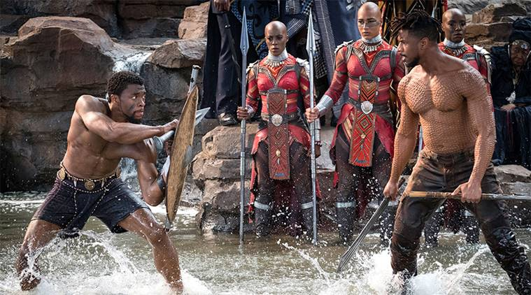 T'Challa faces off against Killmonger in Black Panther (2018).