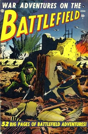 Battlefield (1952) #2, cover by Russ Heath.
