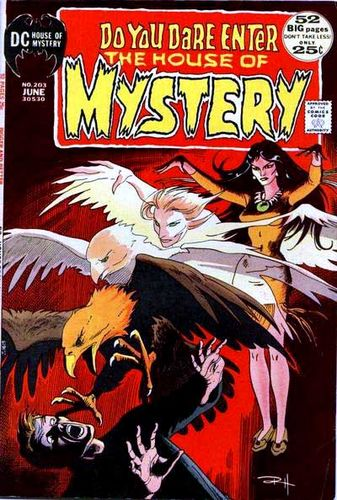 House Of Mystery (1951) #203, cover by Russ Heath.