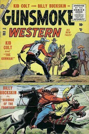 Gunsmoke Western (1955) #33, cover by Russ Heath.