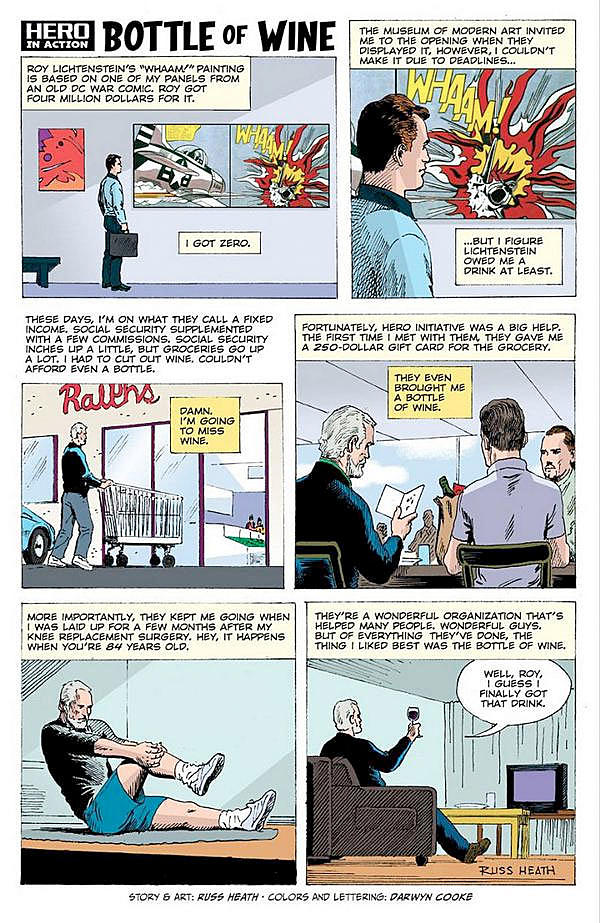 A short comic about being ripped off by  Roy Lichtenstein. By Russ Heath & Darwyn Cooke.