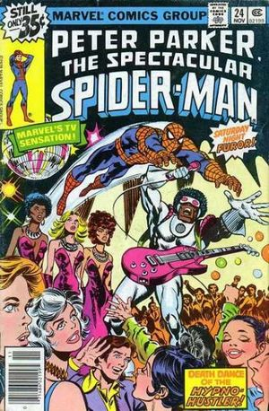 Peter Parker, The Spectacular Spider-Man (1976) #24, cover by Frank Springer.